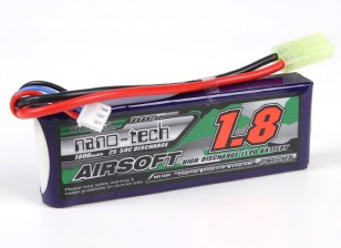Turnigy nano-tech 1800mah 2S 25 ~ 50C Lipo AIRSOFT Paquete