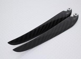 Plegado de fibra de carbono 12x6 Hélice Negro (CCW) (1 unidad)