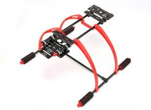 FPV ligera 190mm multifunción de alta Landing Gear Set de multi-rotores (Rojo / Negro)