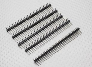 90 grados del jefe del Pin 1 x 30 Pin paso de 2,54 mm (5PCS)