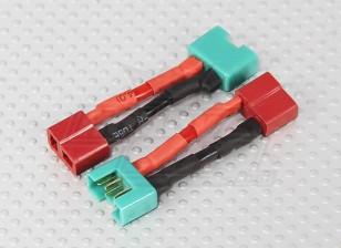 MPX Conector de adaptador de batería T-conector del cable (2pcs)
