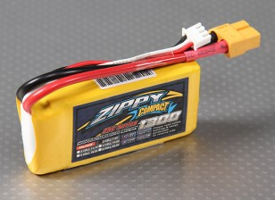 ZIPPY Compacto 1300mAh 2S Lipo 25C Paquete