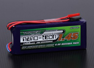 Turnigy nano-tech 1450mAh 2S1P 20 ~ 40C Receptor Paquete LiFePo4