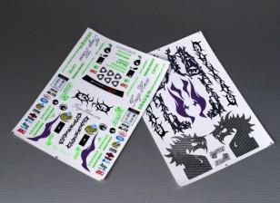 Hoja de auto-adhesivo de la etiqueta - Drift 1/10 Escala