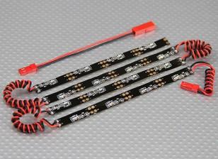 Sistema de neón flexible del LED bajo el cuerpo (rojo)