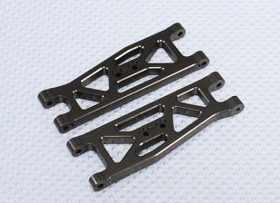 Suspensión del brazo Set L / R delanteros (2 unidades / bolsa) - 1/10 sin escobillas 2WD Desert Racing Buggy - A2032 y A2033