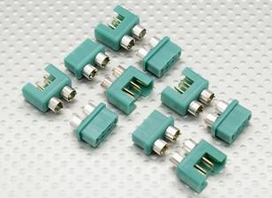 MPX Conector con anillo de plata del color, masculino y femenino (5pairs)