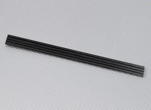 Turnigy HAL fibra de carbono vertical resbalón de aterrizaje de Rod 5 mm x 250 mm (4pcs / bolsa)