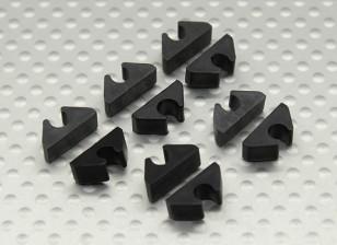 Línea de Aire de Línea / combustible / Cable Clip ordenado respecto a la DO de 4 mm (10pc)