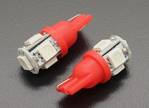 LED de luz del maíz de 1.0W 12V (5 LED) - Rojo (2 unidades)
