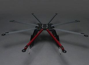 895mm Marco HobbyKing X930 fibra de vidrio Octocopter