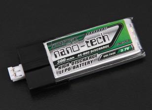 Turnigy nano-tech 300mah 1S 45C Lipo Pack (los trajes del FBL100 y Blade MCPX)
