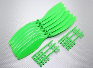 Contador GWS EP hélice giratoria (RH-1047 254x119mm) Verde (6pcs / set)