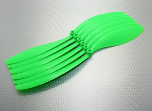 GWS EP hélice Negro (DR-1280 305x203mm) verde (6pc / bolsa)