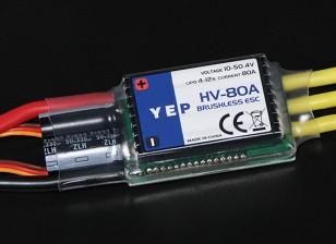 HobbyKing YEP 80A HV (4 ~ 12S) regulador de la velocidad sin escobillas (OPTO)