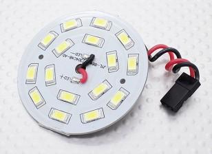 Blanco 16 Junta circular de la luz del LED con plomo