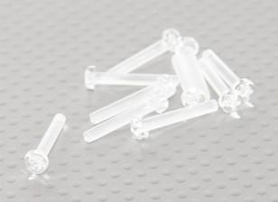 Tornillos de policarbonato transparentes M3x20mm - 10pcs / bag