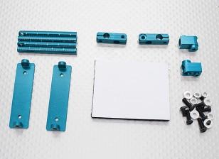 1/10 carrocería de aluminio del coche CNC Set de montaje (azul)