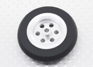 Turnigy Escala Jet aleación de 39 mm de la rueda w / neumático de goma
