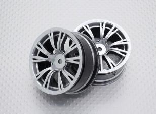 Escala 1:10 alta calidad Touring / deriva de las ruedas del coche RC de 12 mm Hex (2 piezas) CR-BRS