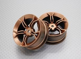 Escala 1:10 alta calidad Touring / deriva de las ruedas del coche RC de 12 mm Hex (2 piezas) CR-MP4G
