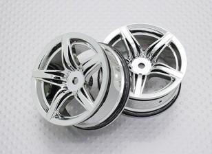 Escala 1:10 alta calidad Touring / deriva de las ruedas del coche RC de 12 mm Hex (2 piezas) CR-F12C