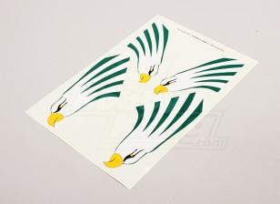 Águila por un estabilizador vertical de la izquierda y lateral derecha