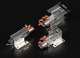 Turnigy Full Metal Servoless retrae w / Asamblea de nariz orientable (pin 3 mm)