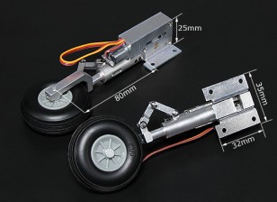 Turnigy Full Metal Servoless retracción con 80mm Piernas Oleo (90 grados)