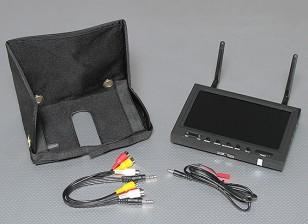 7 pulgadas de 800 x 480 de 5,8 GHz receptor de diversidad y TFT LCD FPV monitor con retroiluminación LED SkyZone