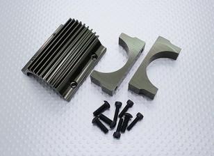 Montaje del motor y la aleta de enfriamiento Set - Nitro Circus Basher Monster Truck 1/8 Escala