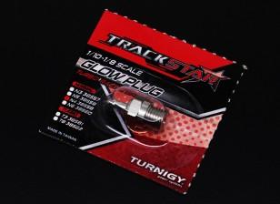 TrackStar 1/10 ~ de 1/8 Escala de bujías incandescentes No.4 (medio caliente)