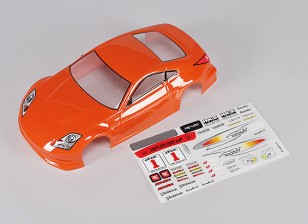 Sport Car Body w / Decal (naranja) - Turnigy TR-V7 1/16 sin escobillas Drift Car w / Chasis Carbono