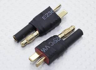 T-Conector de 4mm HXT adaptador para baterías de plomo (2 piezas)