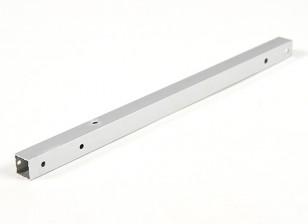 Aluminio Tubo cuadrado de bricolaje Multi-Rotor 12.8x12.8x250mm X525 (.5Inch) (plata)