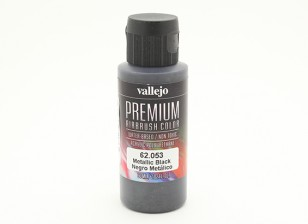 Vallejo Color Superior pintura acrílica - Negro metálico (60 ml)