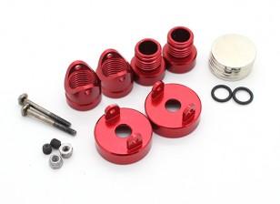 Invisibles Cuerpo de aluminio del montaje de montantes (2pcs) Rojo