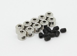 Tren de aterrizaje de ruedas detiene Set collar 6x1.8mm (10 piezas)