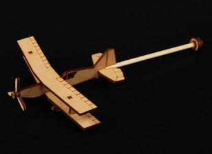 Práctica final del palillo plano cortado con láser Modelo de madera (Kit)
