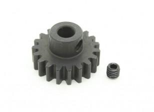 19T / 5 mm de acero templado M1 engranaje de piñón (1 unidad)