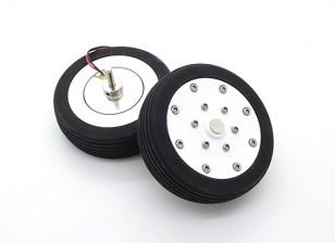 """El Dr. MadThrust 3,0 """"/ 75.5mm principal Ruedas con sistema de frenos Electro Magnética (2 piezas)"""