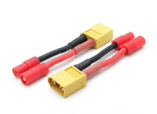 XT60 a hxt adaptador de batería del conector de 3,5 mm (compatible con Walkera QR X350) (2pcs / bolsa)