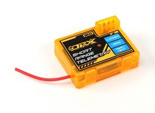 La estación de telemetría de naranja RX de corto alcance