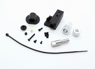 RotorBits montaje servo Set w / Gear (Negro)