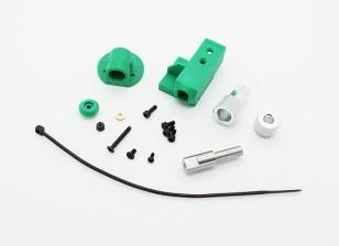 RotorBits montaje servo Set w / Gear (verde)