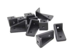 RotorBits 20x10 derecho ángulo del soporte de RH (Negro) (10pcs / bag)
