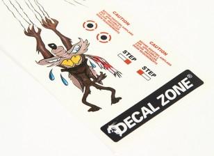 Arte de la nariz - El último lobo 250 x 85 mm auto-adhesivo de las etiquetas