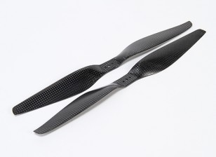 Multirotor fibra de carbono T-Style hélice 12x5.5 Negro (CW / CCW) (2pcs)