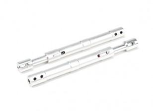 Aleación recta Oleo puntales 130 mm (2pcs)