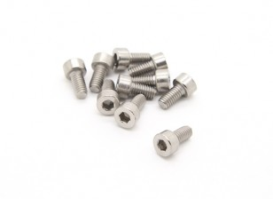 Titanio M4 x 8 Sockethead tornillo hexagonal (10pcs / bag)
